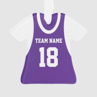 El baloncesto se divierte púrpura del jersey con