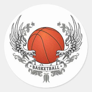 El baloncesto se va volando al pegatina