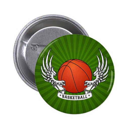 El baloncesto se va volando el botón pin
