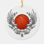 El baloncesto se va volando el ornamento ornamentos de navidad