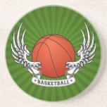 El baloncesto se va volando el práctico de costa posavasos diseño