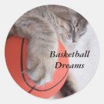El baloncesto soña al pegatina