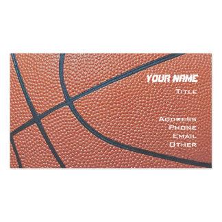 El baloncesto _textured_red, blanco, red azul del tarjetas de visita