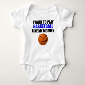 El baloncesto tiene gusto de mi mamá body para bebé