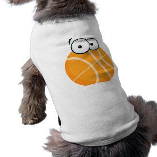 el baloncesto tonto del personaje de dibujos anima camisa de perro