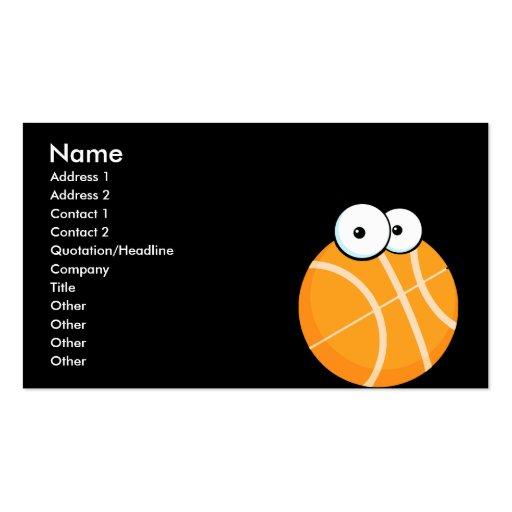 el baloncesto tonto del personaje de dibujos anima tarjeta personal