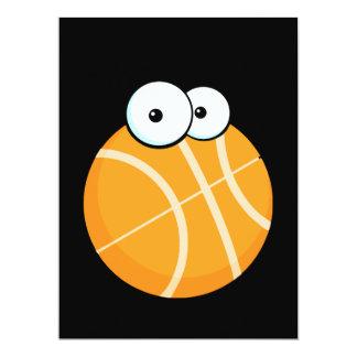 """el baloncesto tonto del personaje de dibujos invitación 6.5"""" x 8.75"""""""