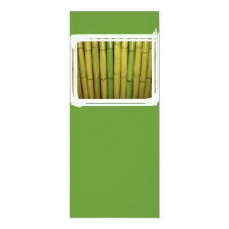 """El bambú asiático del verde del zen acecha la foto invitación 4"""" x 9.25"""""""