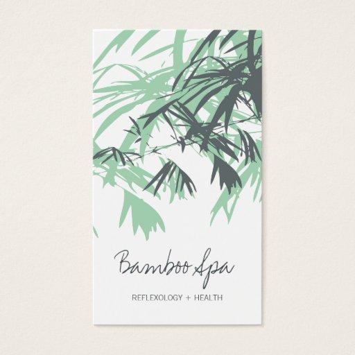 El bambú asiático oriental sale árbol del tarjetas de visita