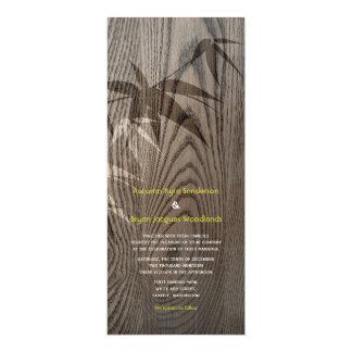El bambú de la viruta sale del boda chino invita invitación personalizada