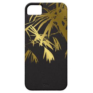 El bambú de oro sale zen de la casamata negra del  iPhone 5 protectores