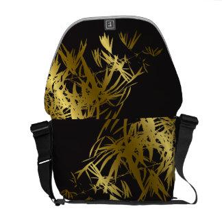 El bambú de oro sale zen del bolso de la bolsa messenger