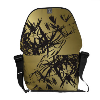 El bambú de oro sale zen del bolso de la bolsas de mensajeria