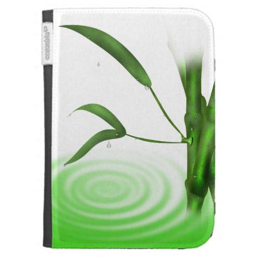 El bambú en agua enciende la caja