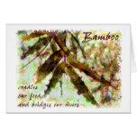El bambú en una lluvia apacible… tiende un puente tarjeta de felicitación