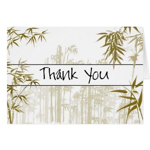 El bambú le agradece cardar felicitacion