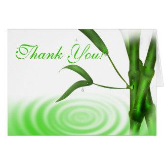 El bambú le agradece cardar felicitación