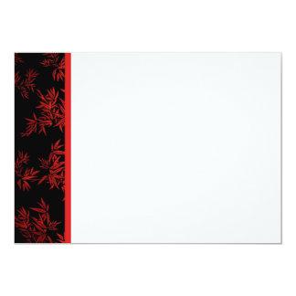 El bambú rojo sale de la invitación del panel