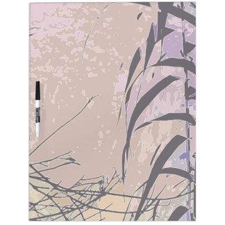 El bambú sale de arte botánico de la hoja pizarras blancas de calidad