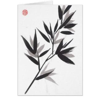 El bambú sale de la tarjeta de la tranquilidad