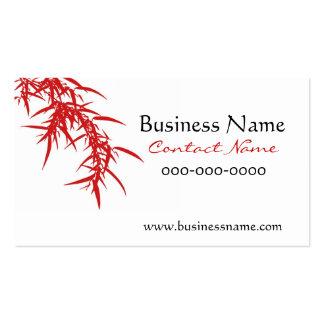 El bambú sale de la tarjeta de visita roja