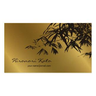 El bambú sale del oro + Tarjeta de encargo del per