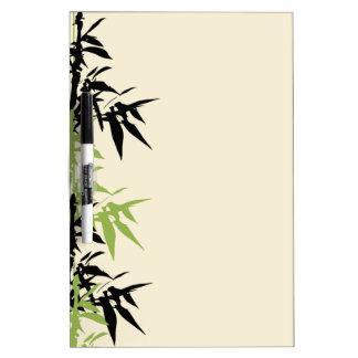 El bambú sale del tablero seco del borrado pizarras blancas de calidad