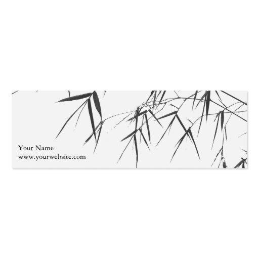 El bambú se va/zen oriental Profilecard/señal Tarjeta De Negocio