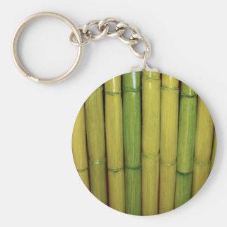 El bambú verde asiático del zen acecha la foto llavero redondo tipo pin