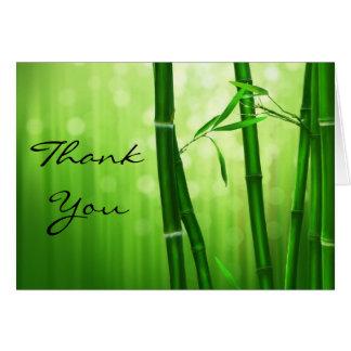 El bambú verde le agradece tarjeta pequeña