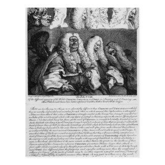 El banco, 1758 postal