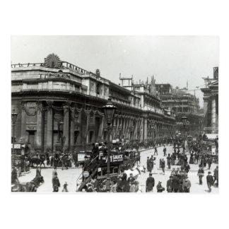 El Banco de Inglaterra adornado para la reina Postales