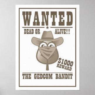 El bandido de GEDCOM quiso el poster