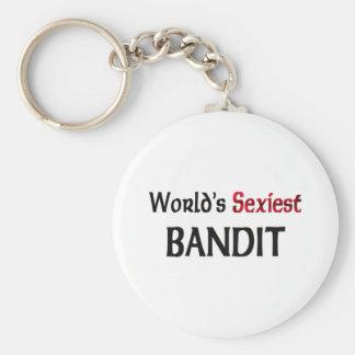 El bandido más atractivo del mundo llavero personalizado
