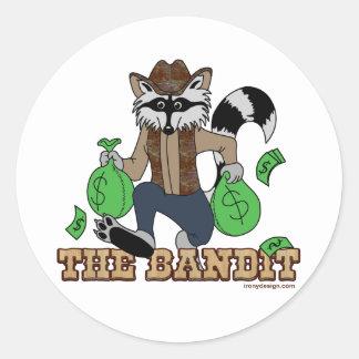 El bandido pegatina redonda