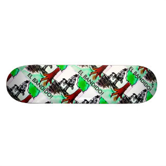 EL BANDIDO RIDES AGAIN DESIGN SKATEBOARD DECK