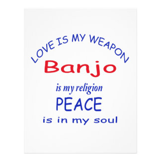 El banjo es mi religión plantillas de membrete