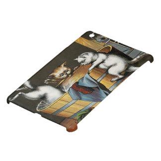 El baño de los gatitos - arte del vintage iPad mini fundas
