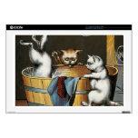 El baño de los gatitos - arte del vintage portátil 43,2cm skin