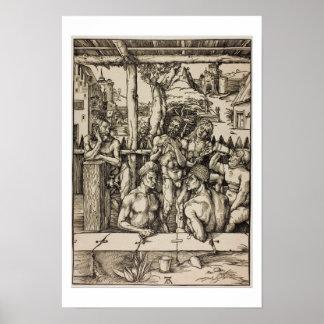 El baño de los hombres de Albrecht Durer Póster