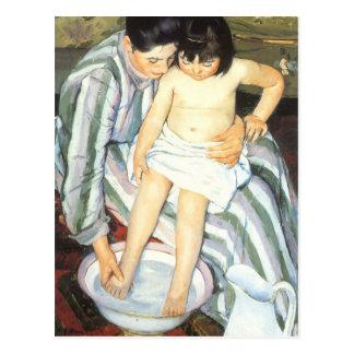 El baño de Mary Cassatt, bella arte del niño del Tarjetas Postales