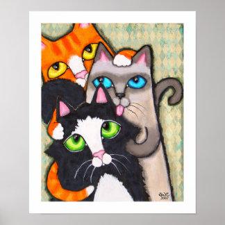 El baño del gato del smoking posters