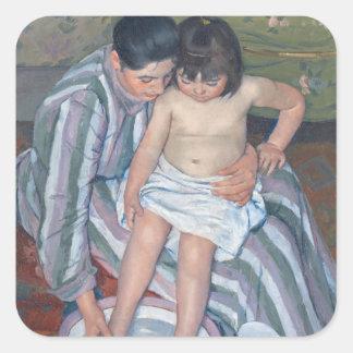 El baño del niño, 1893 (aceite en lona) pegatinas cuadradases
