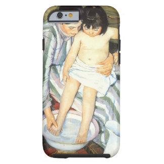 El baño del niño por impresionismo del vintage de funda resistente iPhone 6