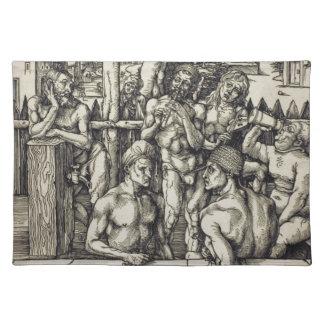 El baño para hombre de Albrecht Durer Mantel