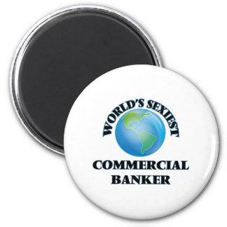 El banquero comercial más atractivo del mundo imanes de nevera