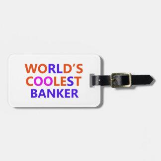 el banquero más fresco etiquetas para maletas