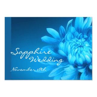 """El banquete de boda azul del zafiro 45.o invita invitación 4.5"""" x 6.25"""""""