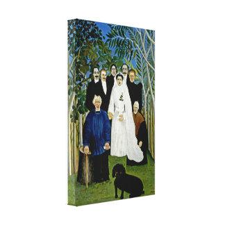 El banquete de boda de Henri Rousseau Impresión De Lienzo