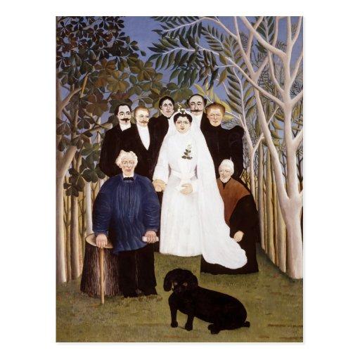 El banquete de boda de Henri Rousseau Postal